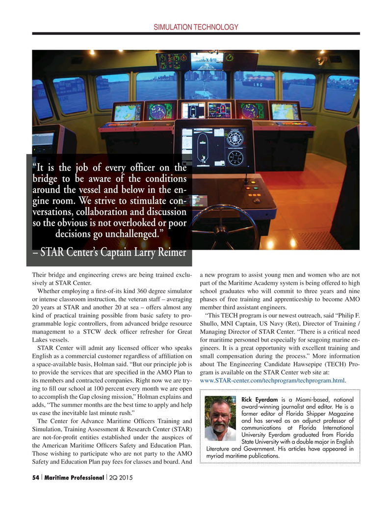 Maritime Logistics Professional Magazine, page 54,  Q2 2015