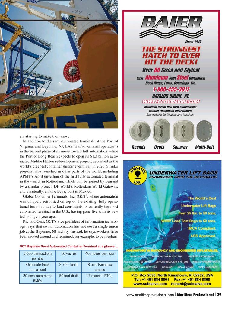 Maritime Logistics Professional Magazine, page 29,  Q3 2015