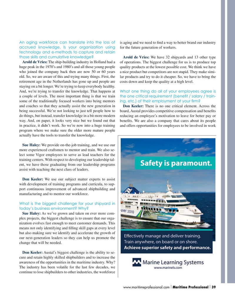 Maritime Logistics Professional Magazine, page 39,  Q3 2015