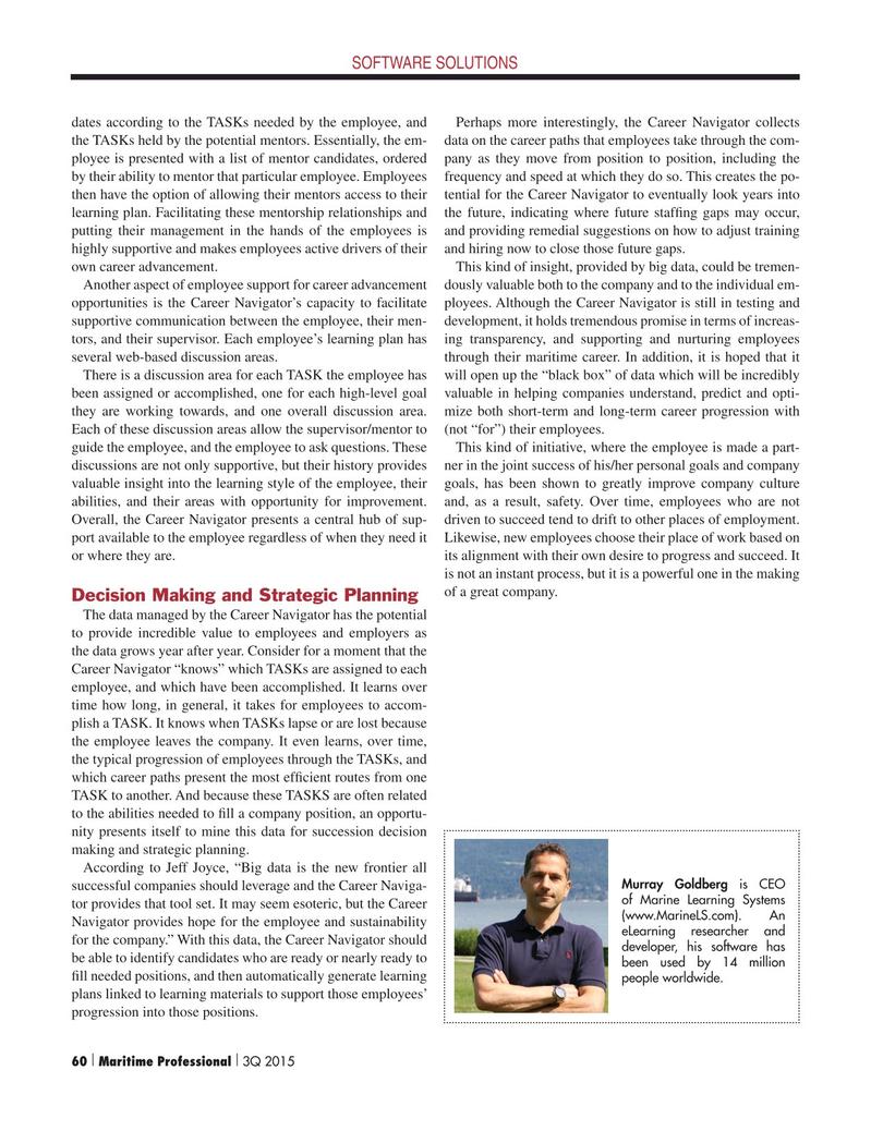 Maritime Logistics Professional Magazine, page 60,  Q3 2015