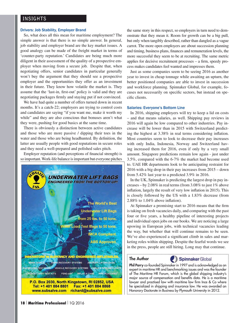 Maritime Logistics Professional Magazine, page 18,  Q1 2016