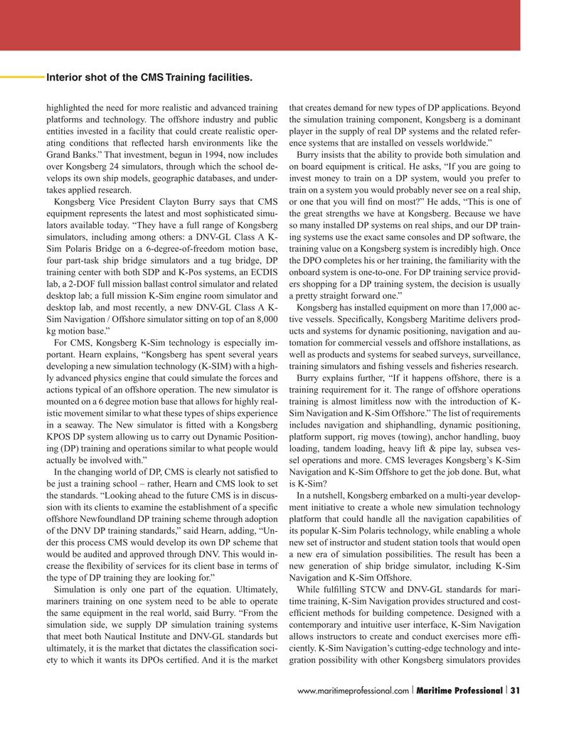Maritime Logistics Professional Magazine, page 31,  Q1 2016
