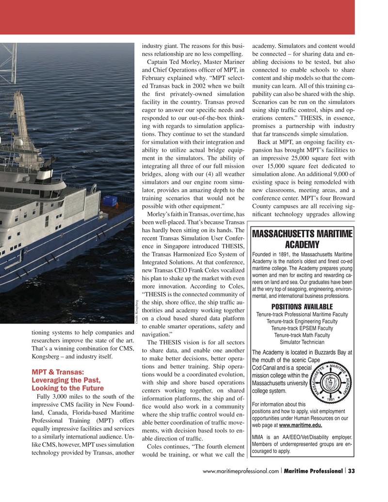 Maritime Logistics Professional Magazine, page 33,  Q1 2016