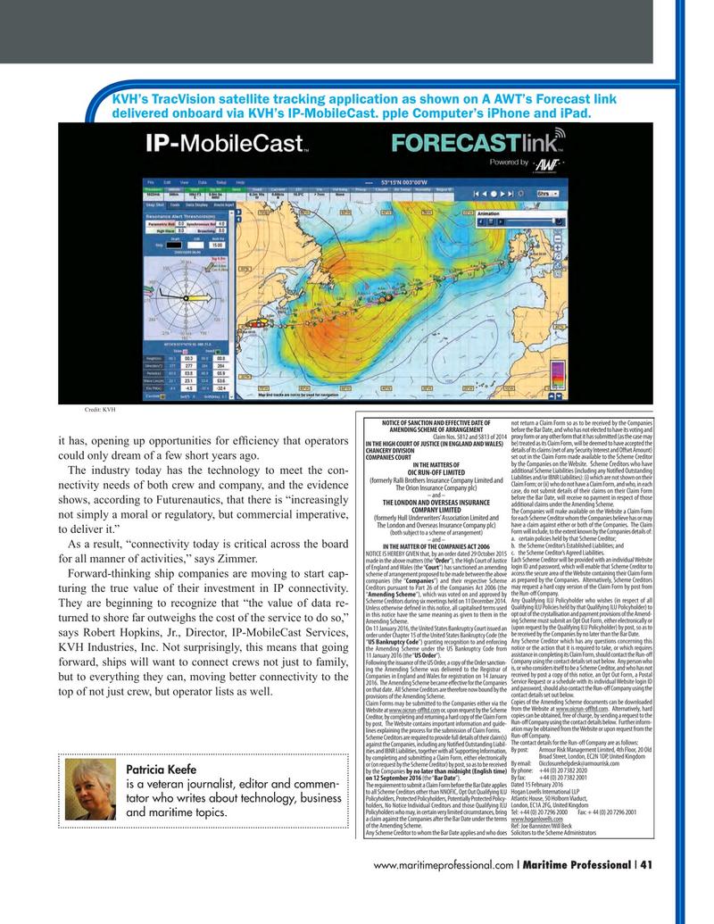 Maritime Logistics Professional Magazine, page 41,  Q1 2016