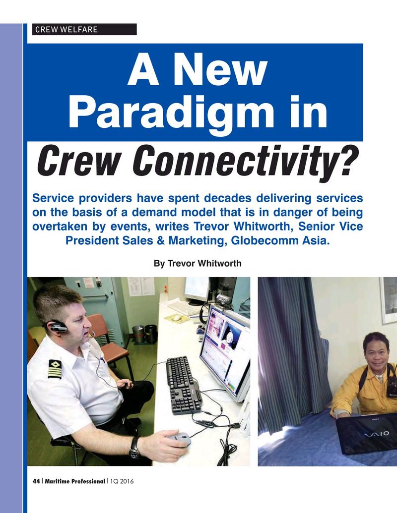 Maritime Logistics Professional Magazine, page 44,  Q1 2016
