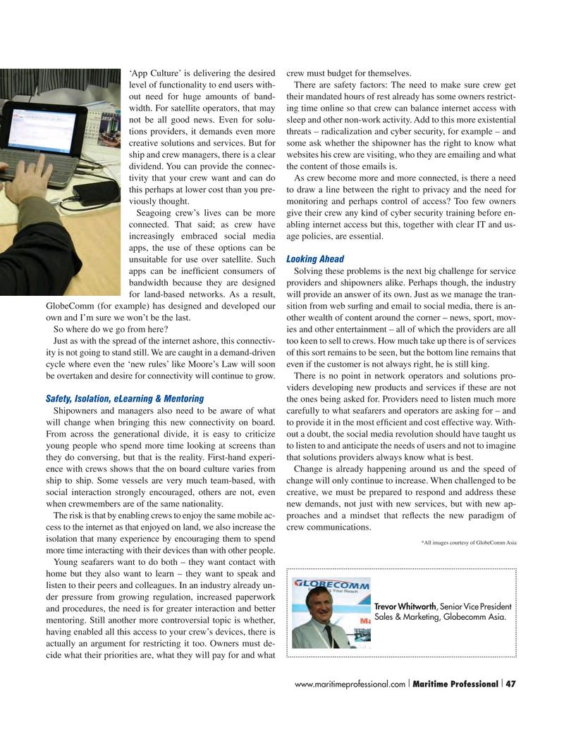 Maritime Logistics Professional Magazine, page 47,  Q1 2016