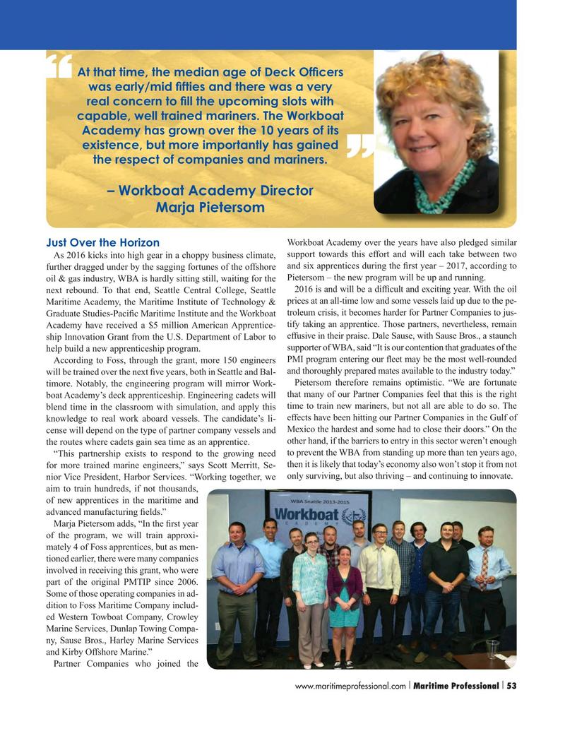 Maritime Logistics Professional Magazine, page 53,  Q1 2016