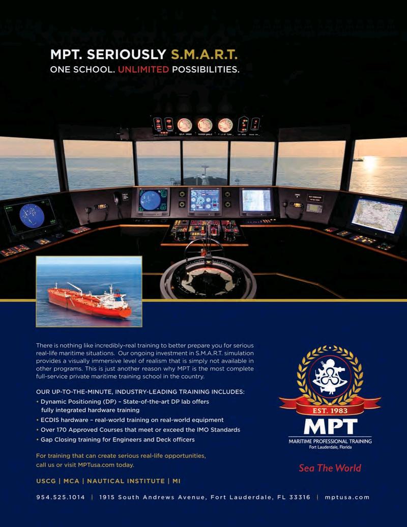 Maritime Logistics Professional Magazine, page 4th Cover,  Q1 2016