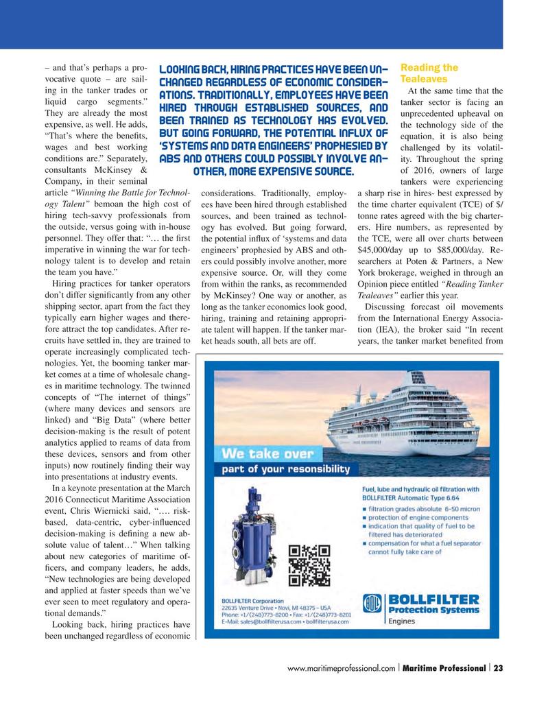 Maritime Logistics Professional Magazine, page 23,  Q2 2016