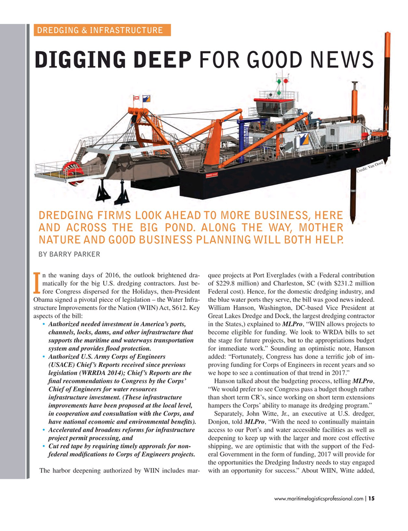 Maritime Logistics Professional Magazine, page 15,  Mar/Apr 2017