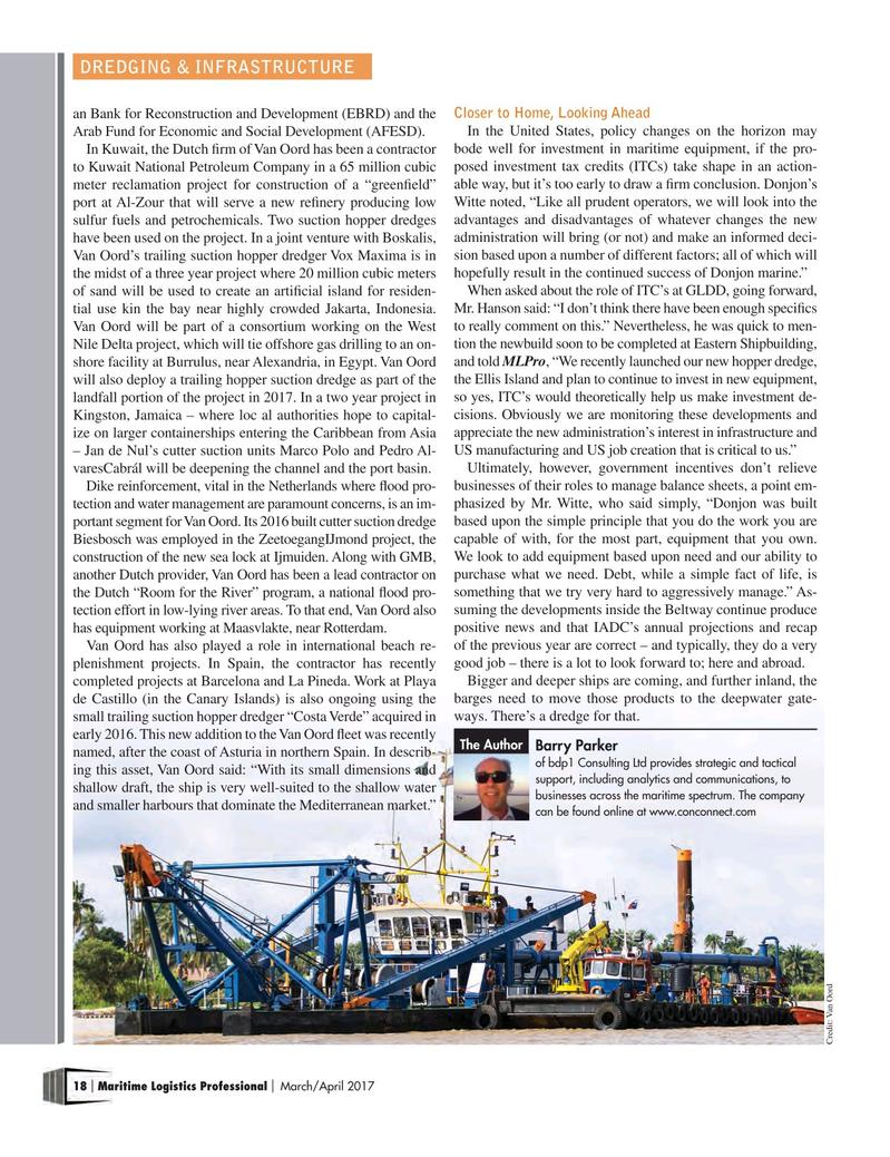 Maritime Logistics Professional Magazine, page 18,  Mar/Apr 2017