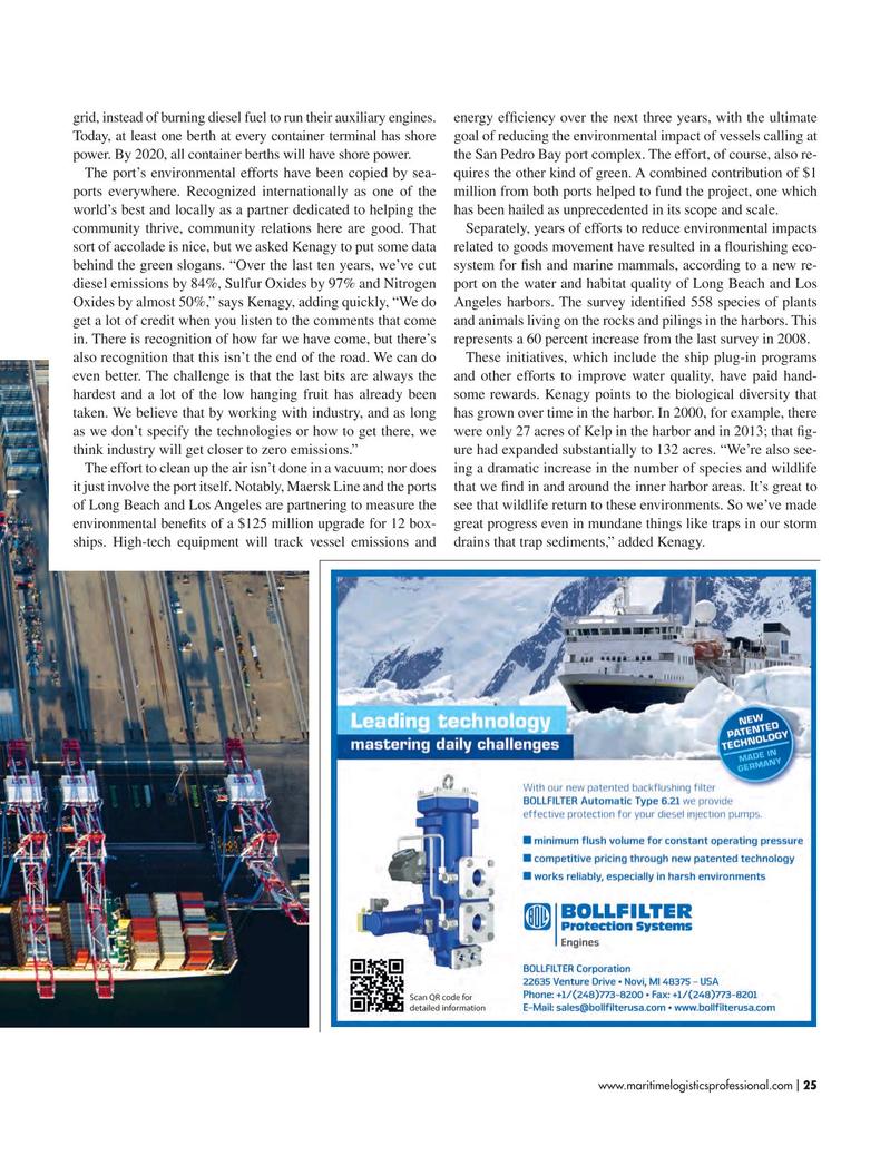 Maritime Logistics Professional Magazine, page 25,  Mar/Apr 2017