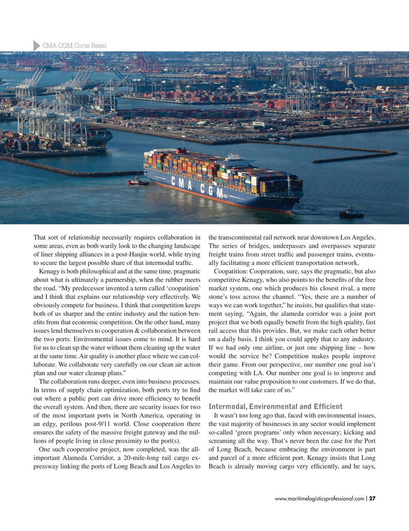 Maritime Logistics Professional Magazine, page 27,  Mar/Apr 2017