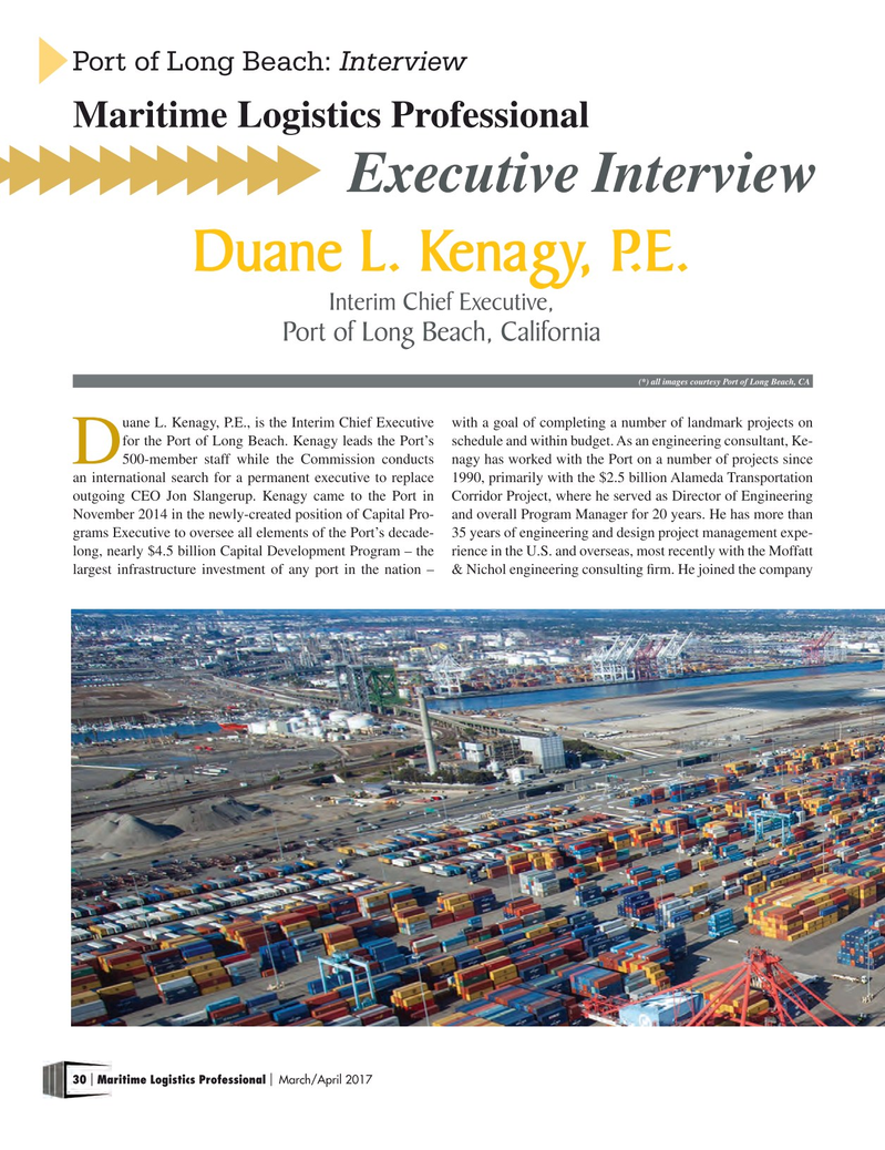 Maritime Logistics Professional Magazine, page 30,  Mar/Apr 2017