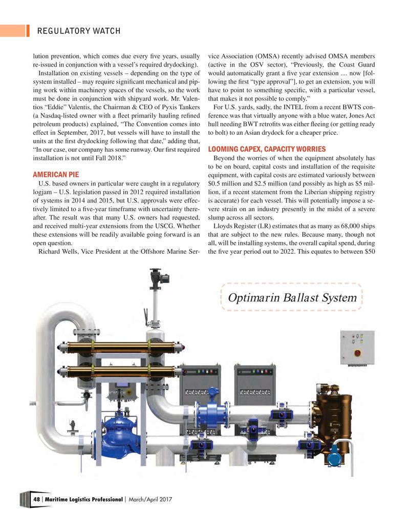 Maritime Logistics Professional Magazine, page 48,  Mar/Apr 2017
