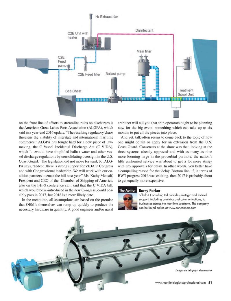 Maritime Logistics Professional Magazine, page 51,  Mar/Apr 2017