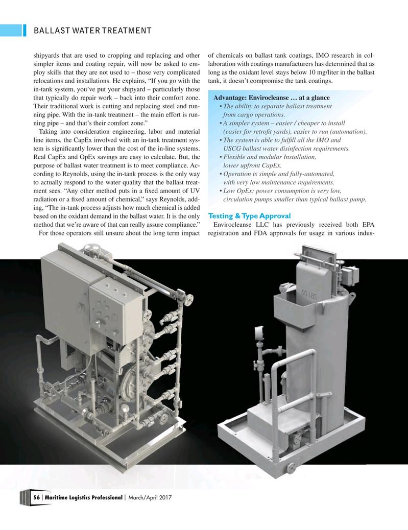 Maritime Logistics Professional Magazine, page 56,  Mar/Apr 2017