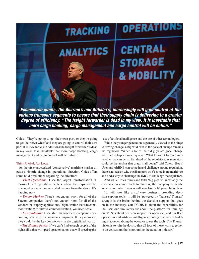 Maritime Logistics Professional Magazine, page 59,  Mar/Apr 2017