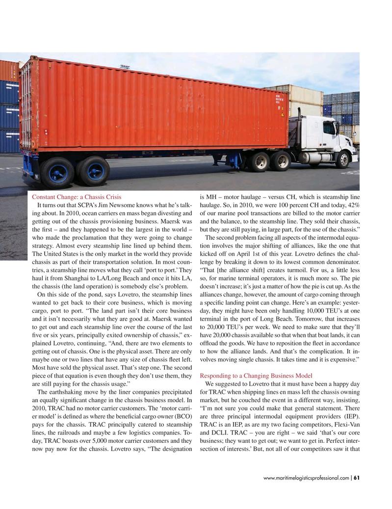 Maritime Logistics Professional Magazine, page 61,  Mar/Apr 2017