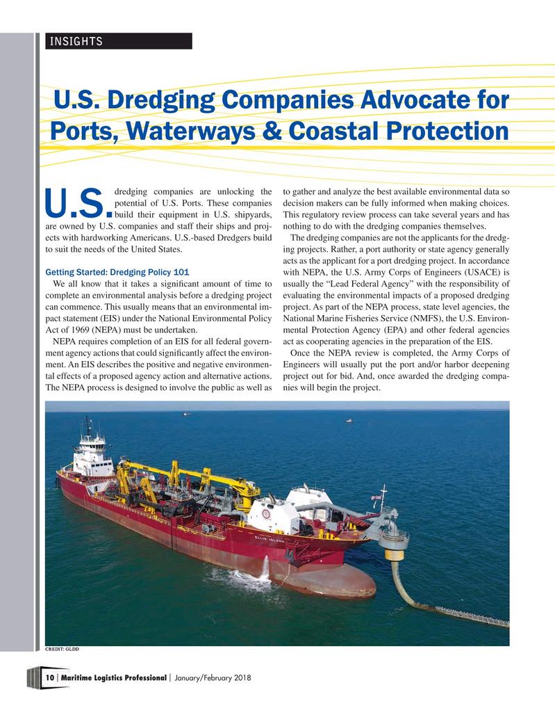 Maritime Logistics Professional Magazine, page 10,  Jan/Feb 2018
