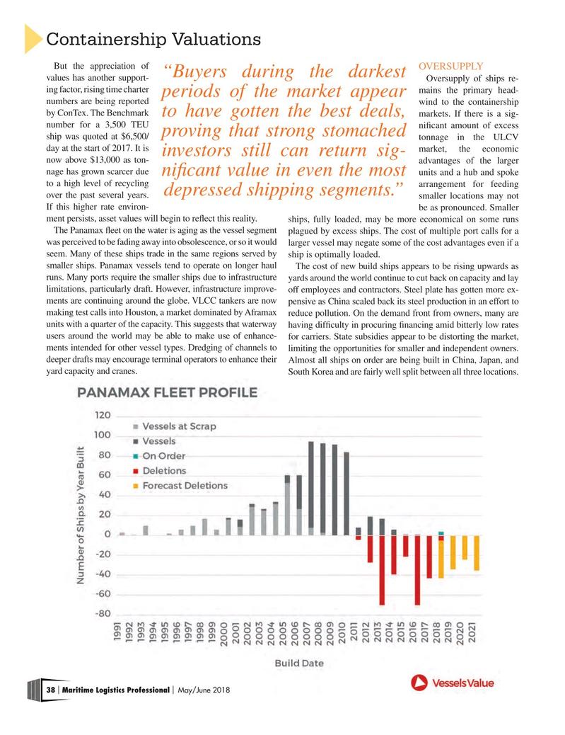 Maritime Logistics Professional Magazine, page 38,  May/Jun 2018
