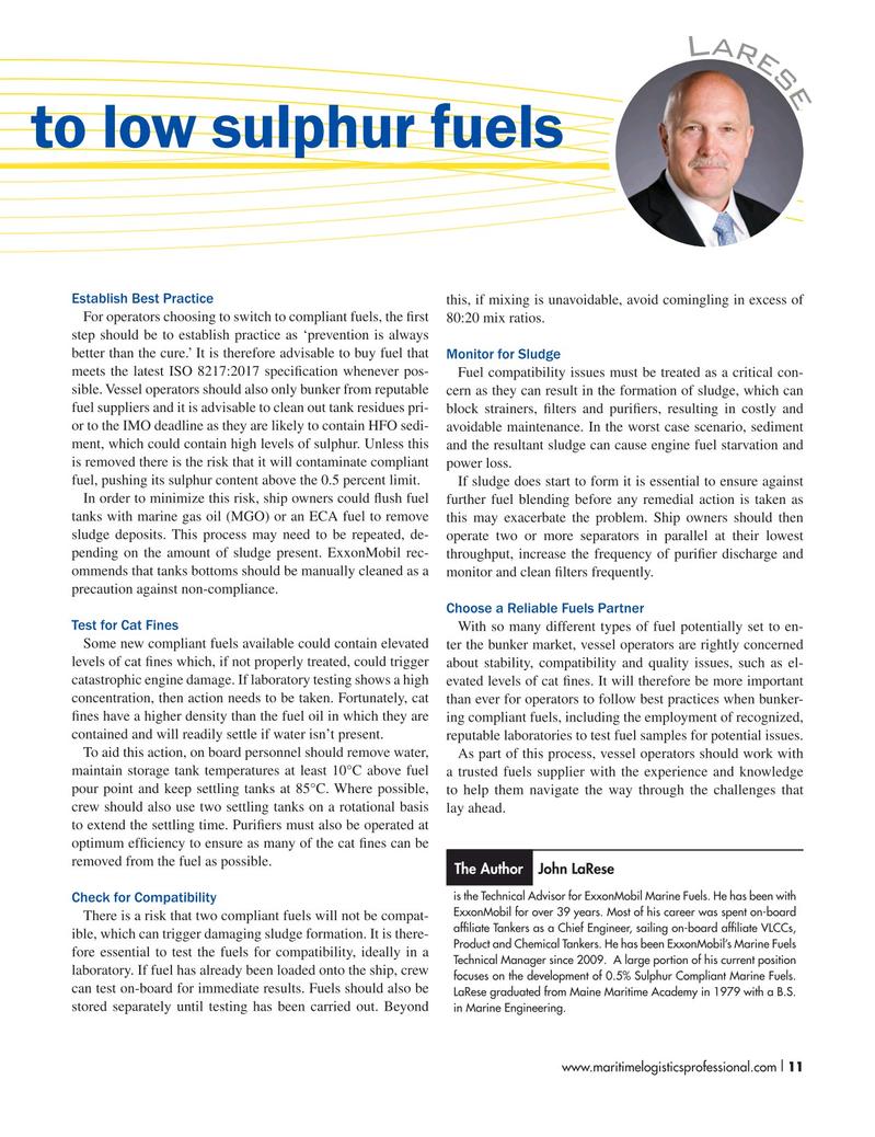 Maritime Logistics Professional Magazine, page 11,  Jul/Aug 2018