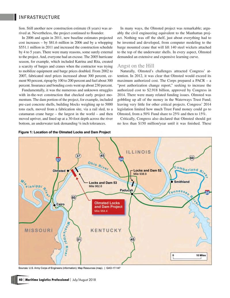 Maritime Logistics Professional Magazine, page 40,  Jul/Aug 2018