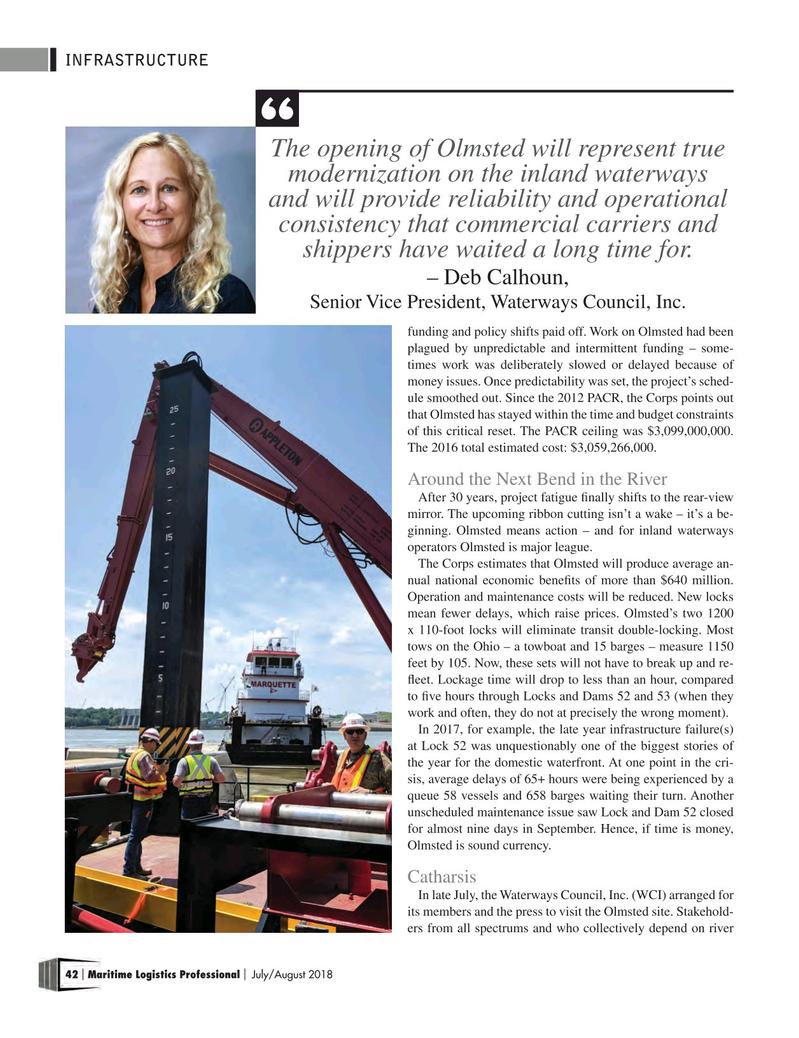 Maritime Logistics Professional Magazine, page 42,  Jul/Aug 2018