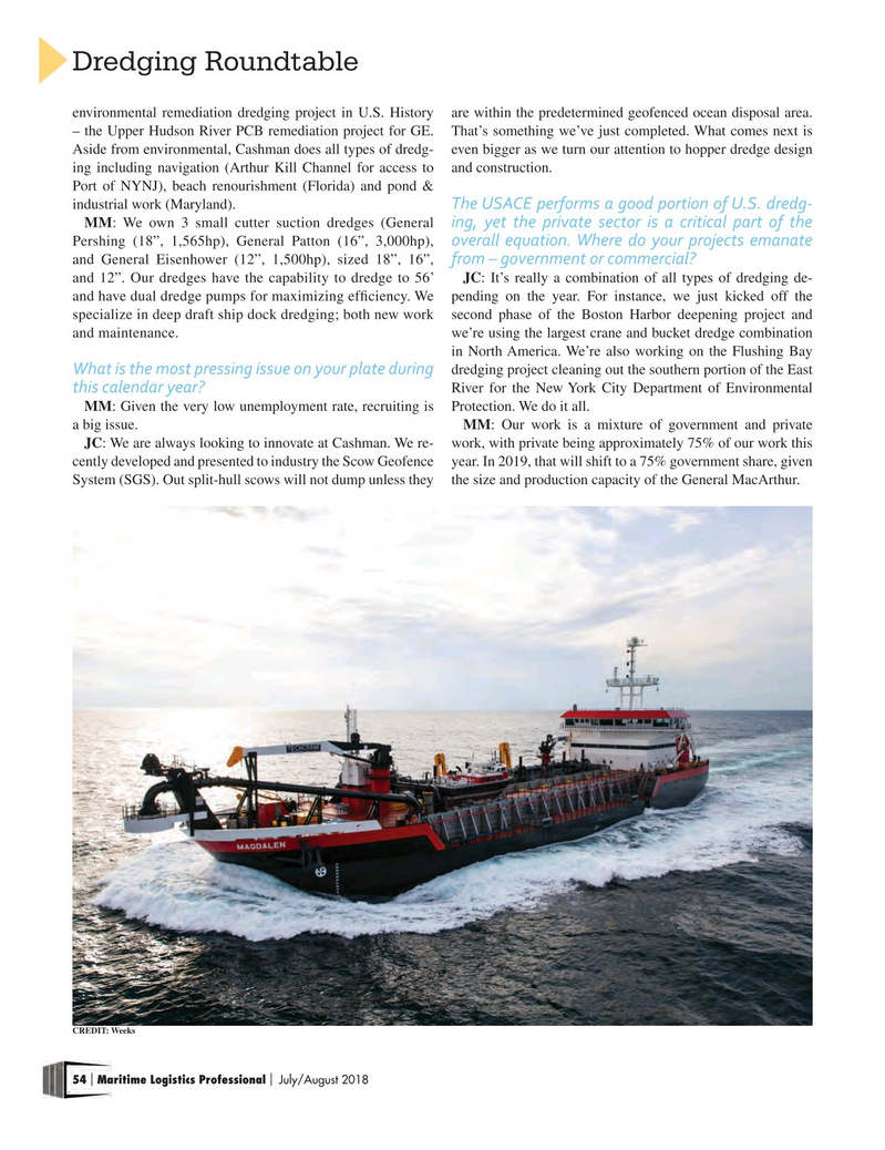 Maritime Logistics Professional Magazine, page 54,  Jul/Aug 2018