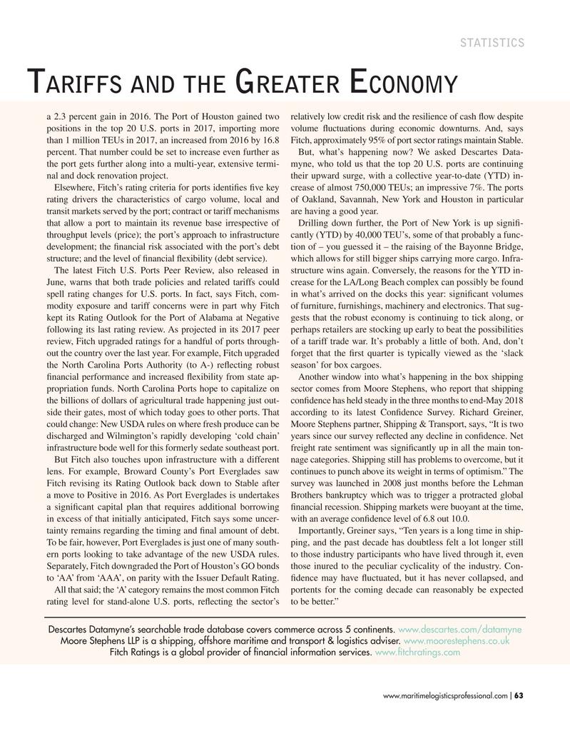 Maritime Logistics Professional Magazine, page 63,  Jul/Aug 2018