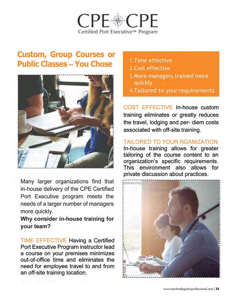 Maritime Logistics Professional Magazine, page 35,  Sep/Oct 2018