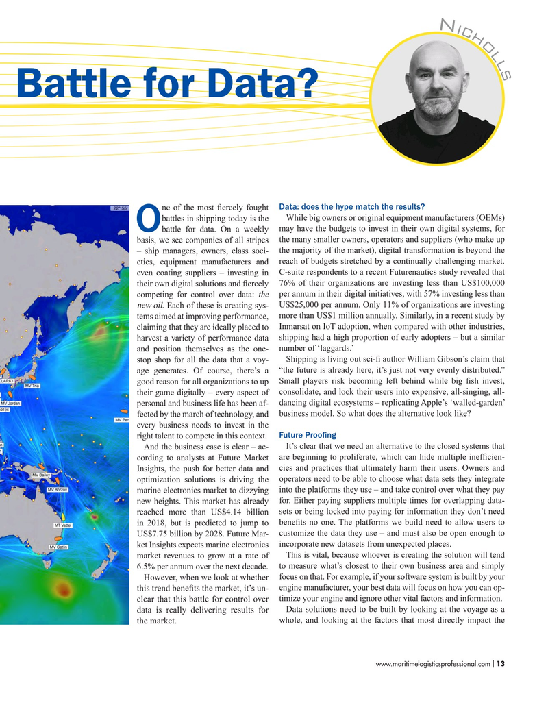 Maritime Logistics Professional Magazine, page 13,  Nov/Dec 2018