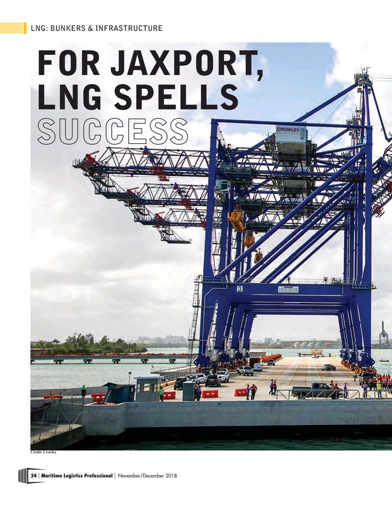 Maritime Logistics Professional Magazine, page 24,  Nov/Dec 2018
