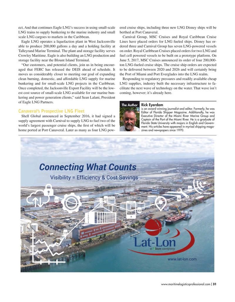 Maritime Logistics Professional Magazine, page 31,  Nov/Dec 2018
