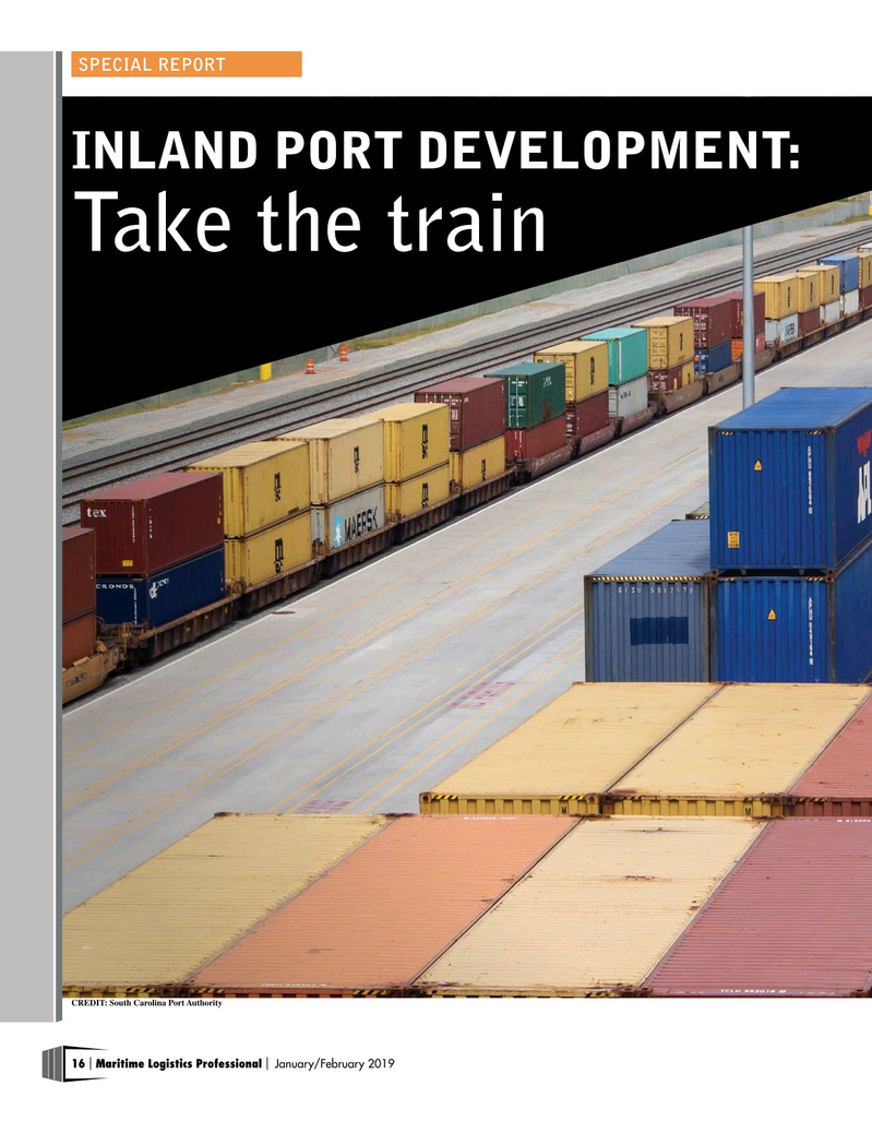 Maritime Logistics Professional Magazine, page 16,  Jan/Feb 2019
