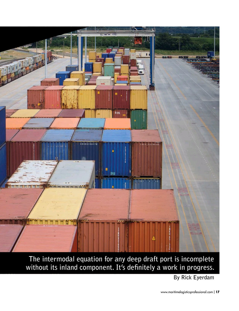 Maritime Logistics Professional Magazine, page 17,  Jan/Feb 2019