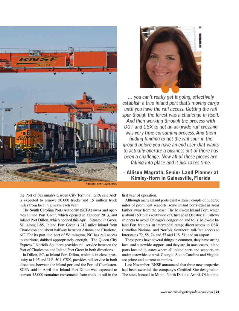 Maritime Logistics Professional Magazine, page 21,  Jan/Feb 2019
