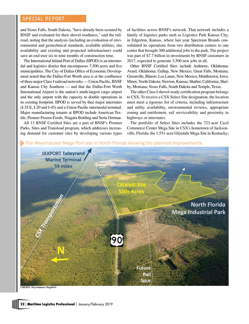 Maritime Logistics Professional Magazine, page 22,  Jan/Feb 2019