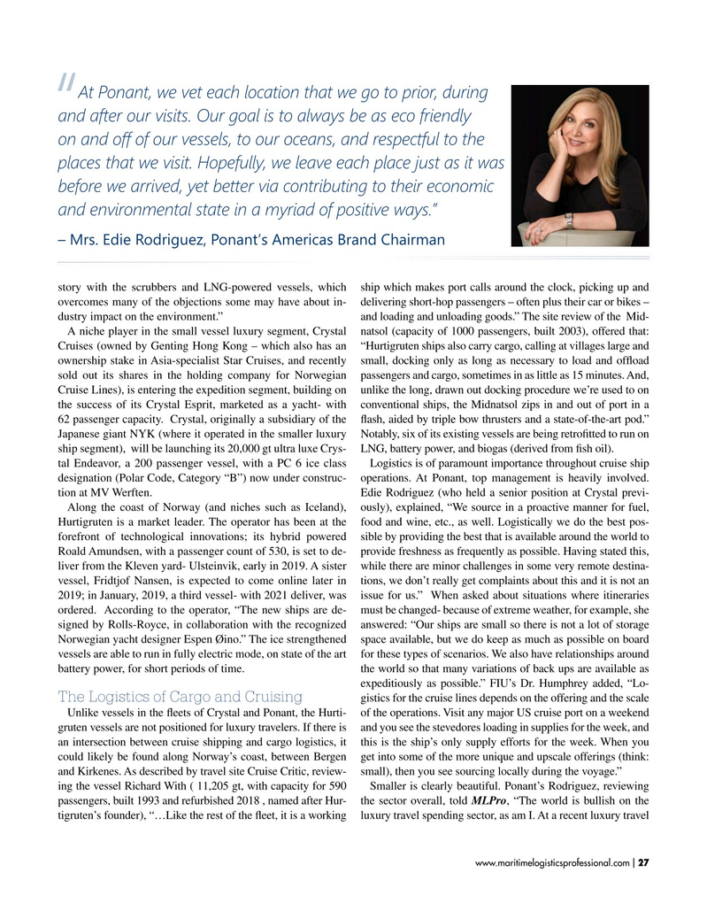 Maritime Logistics Professional Magazine, page 27,  Jan/Feb 2019