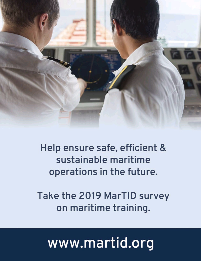 Maritime Logistics Professional Magazine, page 1,  Jan/Feb 2019