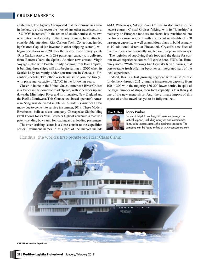 Maritime Logistics Professional Magazine, page 28,  Jan/Feb 2019