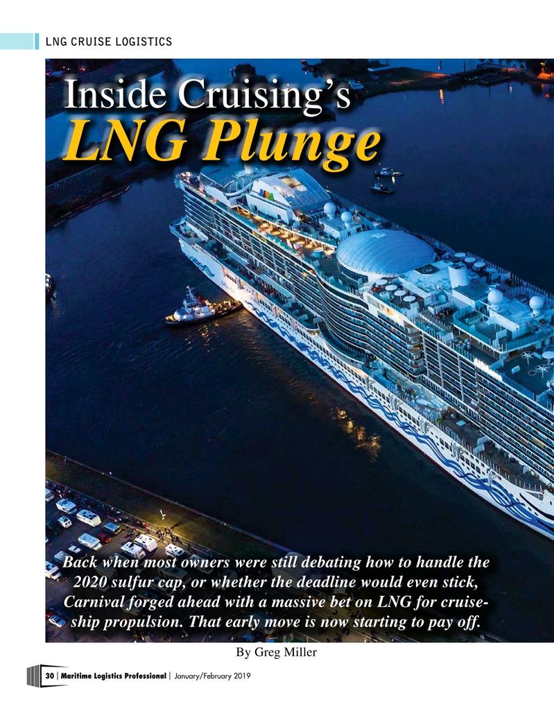 Maritime Logistics Professional Magazine, page 30,  Jan/Feb 2019