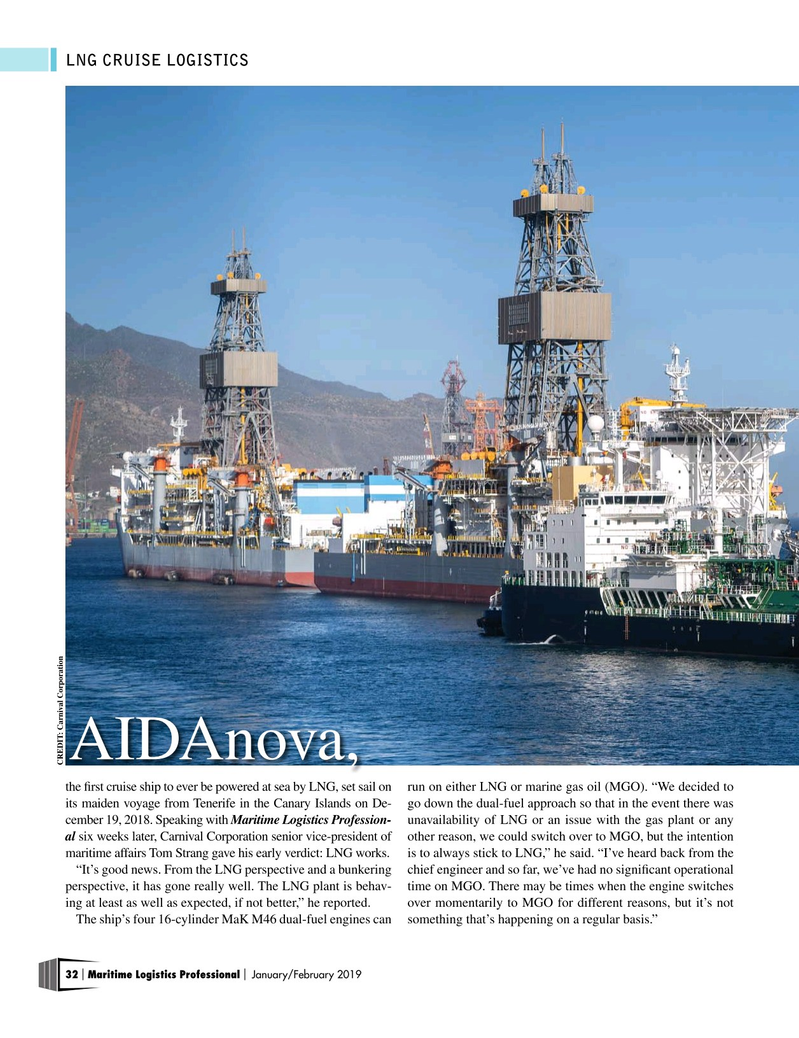 Maritime Logistics Professional Magazine, page 32,  Jan/Feb 2019