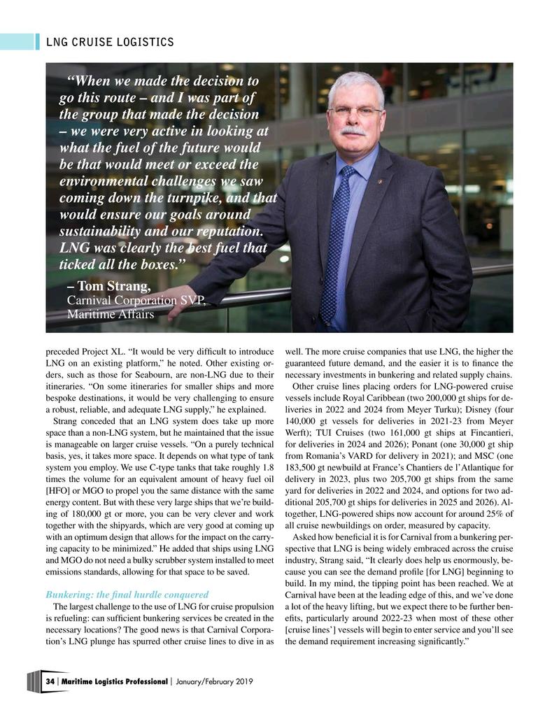 Maritime Logistics Professional Magazine, page 34,  Jan/Feb 2019