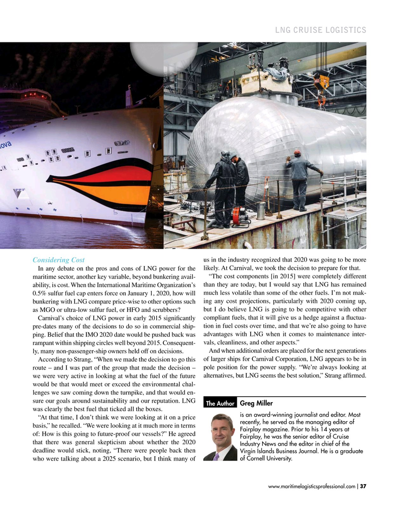 Maritime Logistics Professional Magazine, page 37,  Jan/Feb 2019