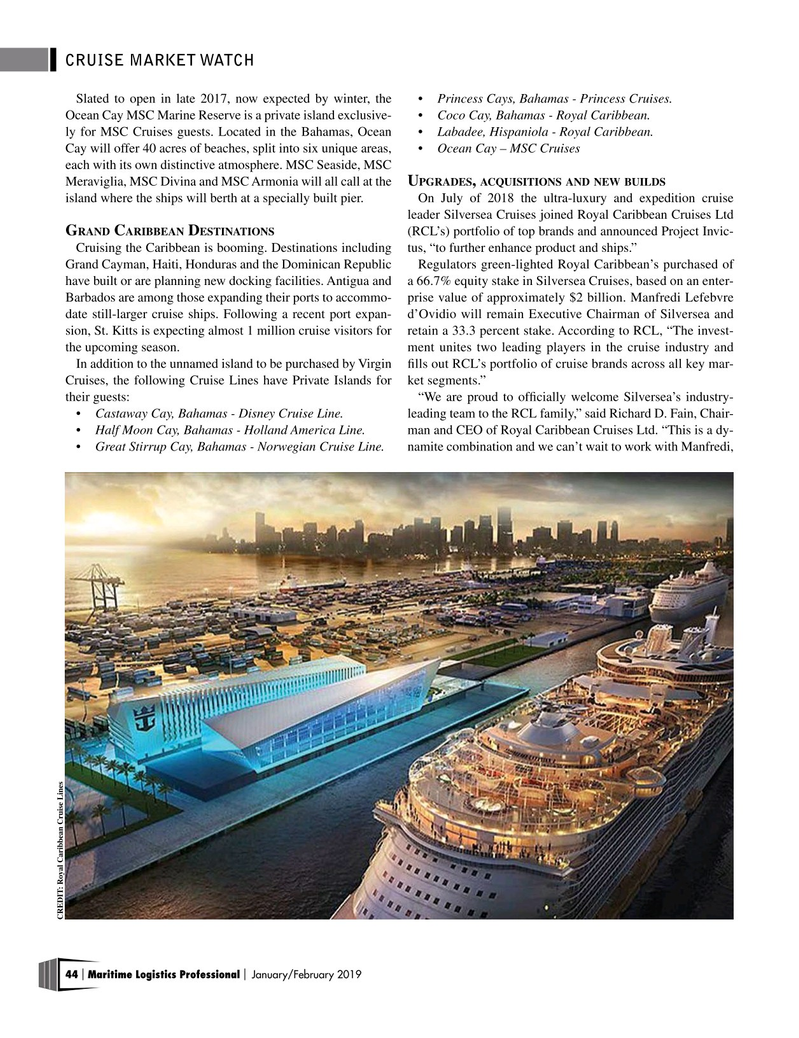 Maritime Logistics Professional Magazine, page 44,  Jan/Feb 2019