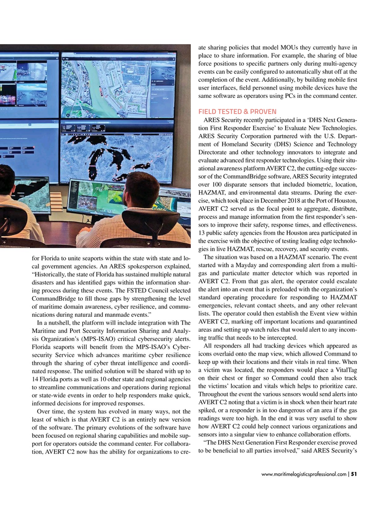 Maritime Logistics Professional Magazine, page 51,  Jan/Feb 2019