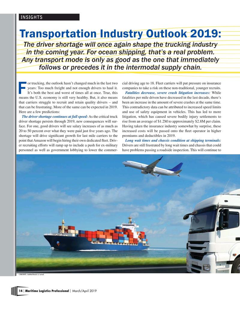 Maritime Logistics Professional Magazine Mar/Apr 2019, 14 page