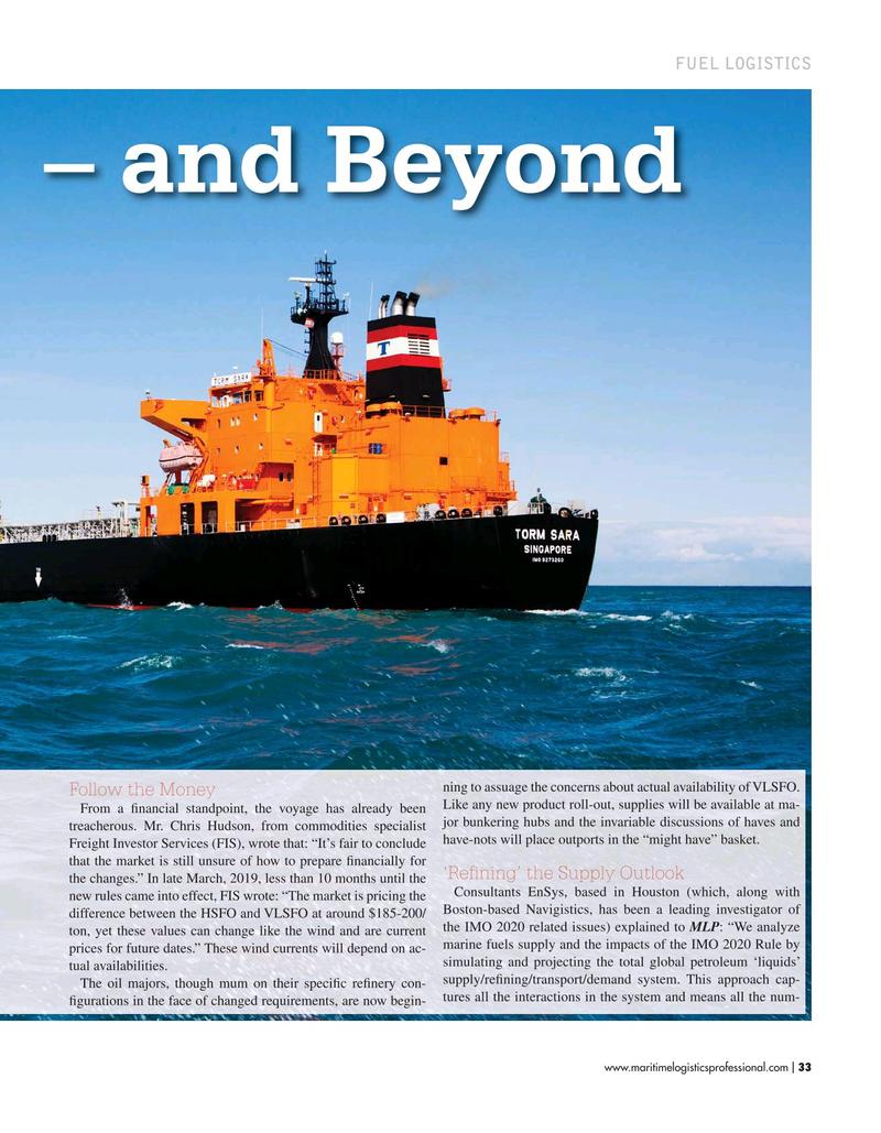 Maritime Logistics Professional Magazine, page 33,  Mar/Apr 2019