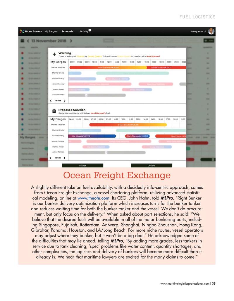 Maritime Logistics Professional Magazine, page 35,  Mar/Apr 2019